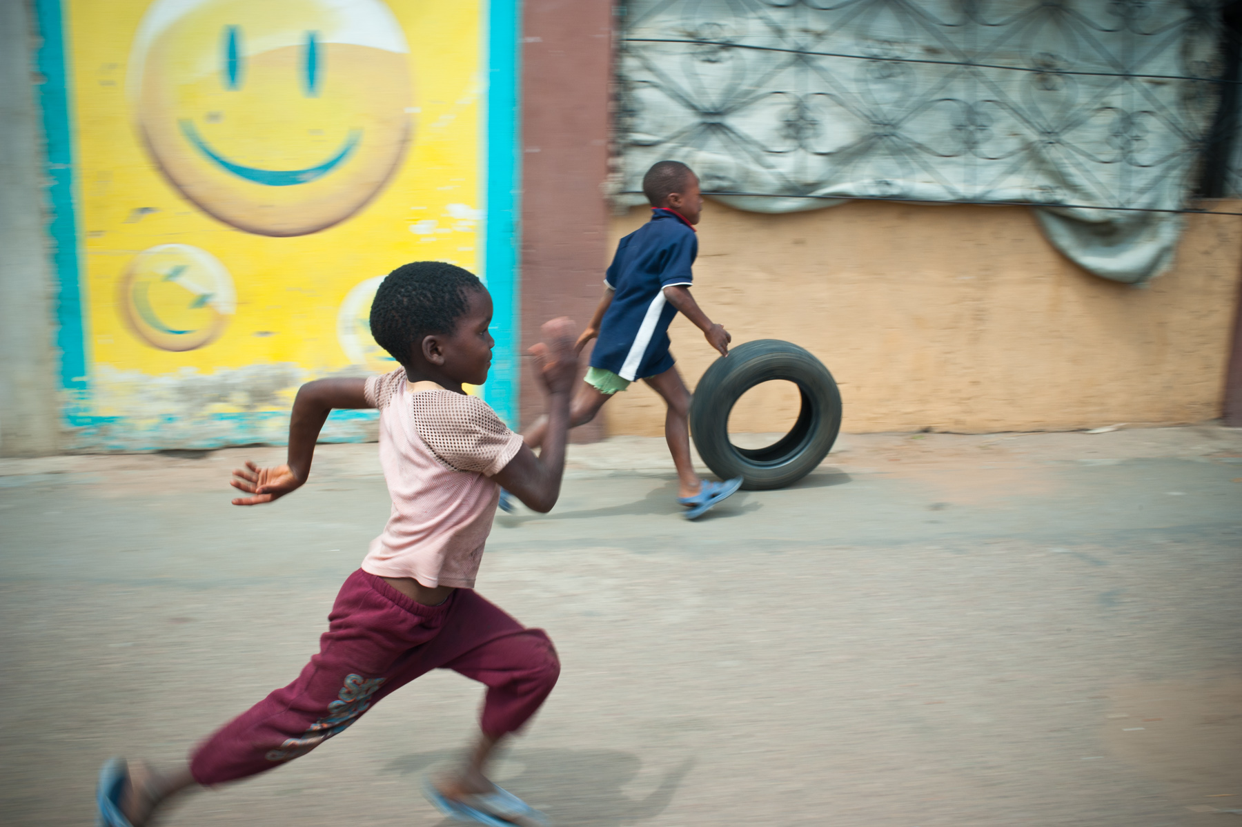 Boys playing - Mozambique